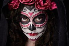 Close up of skull make up royalty free stock image