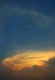 Close up sky and moon Royalty Free Stock Photos