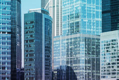 Close up of the skyscrapers of the International Business Centre in Moscow, Russia. stock image
