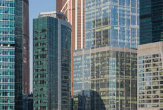Close up of the skyscrapers of the International Business Centre in Moscow, Russia. stock images
