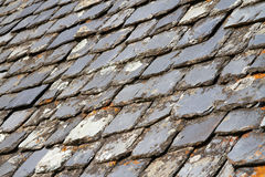 Close up of slate roof tiles Royalty Free Stock Photos