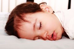 Close up of sleeping baby Stock Image