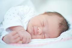 Close up of Sleeping Baby Royalty Free Stock Image