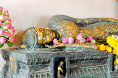 Close up Sleeping Buddha. And Twilight time Stock Images