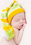 Close-up of sleeping newborn Royalty Free Stock Photo