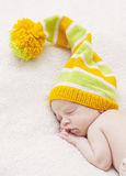 Close-up of sleeping newborn Stock Photography