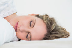 Close up on sleeping pretty blonde woman Royalty Free Stock Images