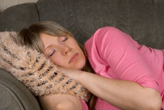 Close up of Sleeping  woman Royalty Free Stock Photo
