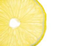 Close up of slice lemon on white background Royalty Free Stock Photo