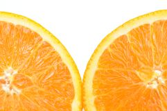 Close-up slice orange Royalty Free Stock Photos