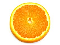 A close up slice of orange Stock Photos