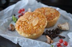 Close up Sliced Almonds Tart Royalty Free Stock Image