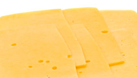 Close-up of Sliced hard cheese Stock Photo