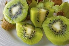 Free Close Up Sliced Kiwi Fruits On Plate Stock Images - 201138504