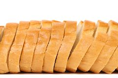 Close up of sliced long loaf. Stock Photo