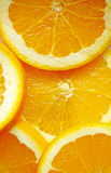 Close up sliced orange background Stock Images