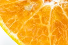 Close up sliced orange Royalty Free Stock Photography