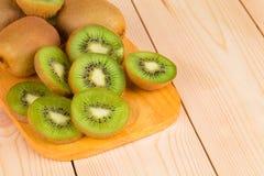 Close up of sliced ripe kiwi fruits. Stock Images