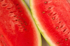 Close up of sliced watermelon fruit Stock Images