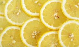 Close up sliced yellow lemon background texture Royalty Free Stock Image