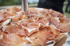 Close up of slices of parma ham Stock Photo