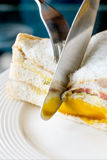 Close Up slices to fill a Club sandwich Royalty Free Stock Photography