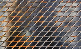 Close up of a slightly rusty cooking grate Stock Photography