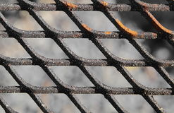 Close up of a slightly rusty cooking grate Stock Photos