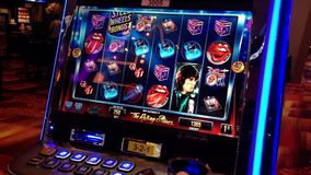 Close up slot machine stock video