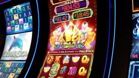 Close up slot machine screen stock footage