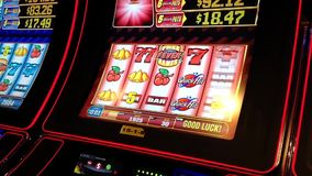 Close up slot machine stock video footage