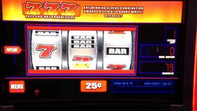 Close up slot machine Stock Photography