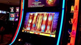 Close up slot machine stock video