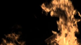 Fire flame in slow motion. Close up on the slow flame of the fire stock video footage