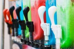Close up of slushy machine stock photo