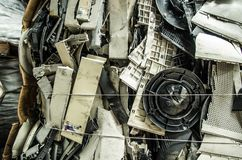 Close up of a small computer parts for electronic recycling Royalty Free Stock Photography