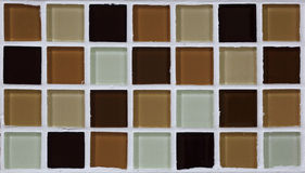 Close up of small square tiles texture Stock Images