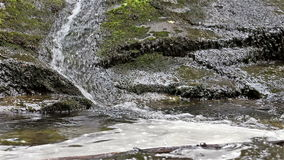 Close-up of a Small Stream Over Rock stock footage