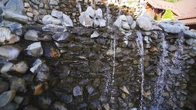 Close up of small waterfall.  stock video footage