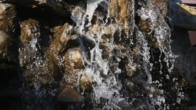 Close up of small waterfall.  stock footage