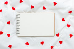 Close up Small White Card and Red Rose Flower Royalty Free Stock Image