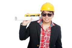 Close up of smiling Asian engineer man Stock Images