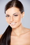 Close up of Smiling beautiful woman Royalty Free Stock Images