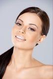 Close up of Smiling beautiful woman Stock Photos