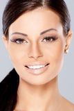 Close up of Smiling beautiful woman Stock Images
