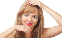 Close-up of smiling blond woman Royalty Free Stock Photo