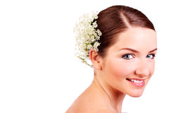 Close up of a smiling bride Stock Photos
