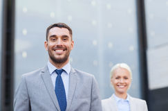 Close up of smiling businessmen Stock Images