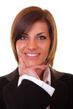 Close-up of a smiling businesswoman Royalty Free Stock Photos