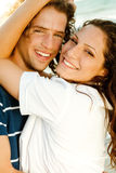 Close-up of smiling couple Stock Photography
